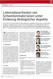 Lebensdauerkosten von Schwellenmaterialien ... - IBI - ETH Zürich