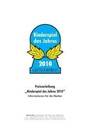 """Preisverleihung """"Kinderspiel des Jahres 2010"""""""