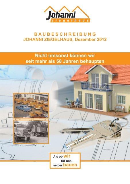 detaillierte Baubeschreibung für unsere Häuser zum ... - Johanni