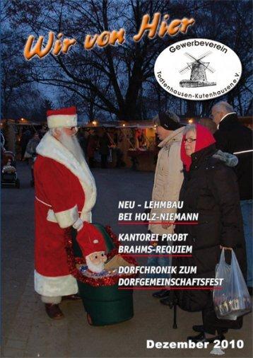 Dezember 2010 - Gewerbeverein Todtenhausen-Kutenhausen eV
