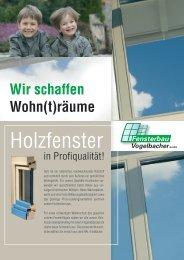 Produktblatt Holzfenster.indd - Fensterbau Vogelbacher GmbH