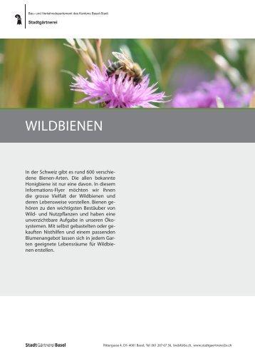 WILDBIENEN - Stadtgärtnerei - Basel-Stadt