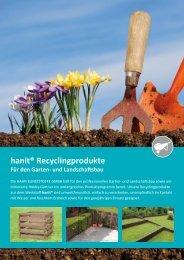 hanit® Recyclingprodukte Für den Garten - Hahn Kunststoffe GmbH