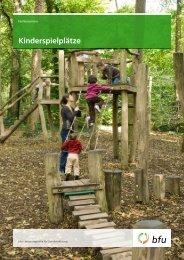 Kinderspielplätze – Fachbroschüre - BfU