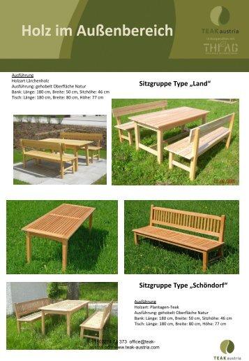 Holz im Außenbereich - Teak Austria