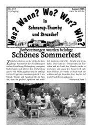August 2008 - Wann? Wo? Wer? Wie? in Schnarup-Thumby