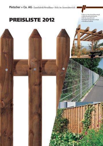 PREISLISTE 2012 - Pletscher & Co. AG