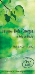 Bäume· Holz · Energie - Baumschule