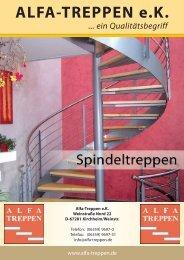 Massivholz-Spindeltreppen - Alfa-Treppen eK
