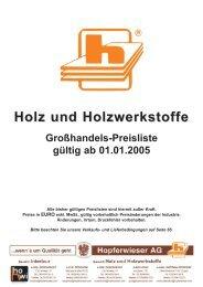 Holz und Holzwerkstoffe - Hopferwieser AG