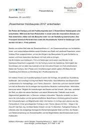 """""""Rosenheimer Holzbaupreis 2012"""" entschieden - RosenheimKreis ..."""