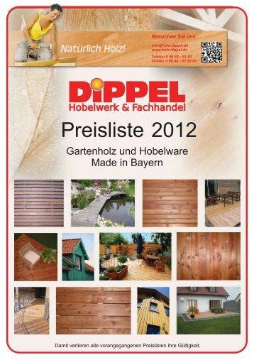 Gartenholz Preise 2012 - DIPPEL Konrad eK