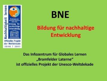 Bildung für nachhaltige Entwicklung - Bramfelder Laterne