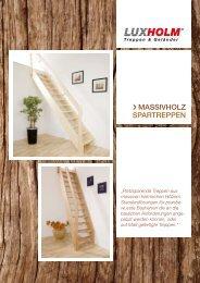 massivholz spartreppen - LUXHOLM Bauelemente Werk GmbH
