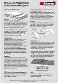 und Pflegeanleitung für Massivholz-Arbeitsplatten - Schreinerei ... - Seite 6