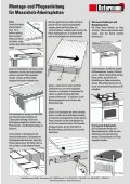 und Pflegeanleitung für Massivholz-Arbeitsplatten - Schreinerei ... - Seite 7