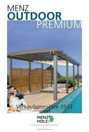 MENZ Outdoor Premium Preisliste 2012 - Sauerland-Holz