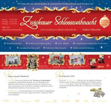 GGroße Hofstube - Zwickauer Schlossweihnacht