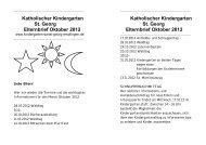 Katholischer Kindergarten St. Georg Elternbrief Oktober 2012 ...