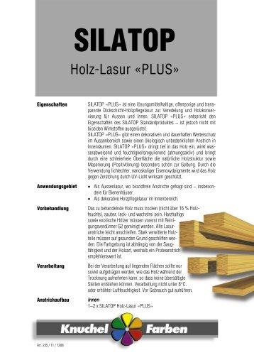 Holz-Lasur «PLUS» - Knuchel Farben AG