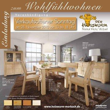 E inla d ung zum Wohlfühlwohnen - Der Holzwurm in Morbach