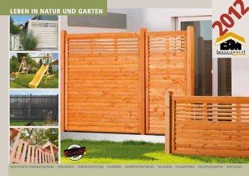 "Katalog ""Leben in Natur und Garten 2012"" - bm massivholz"