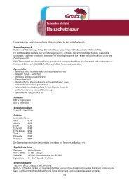 TM_Gnatz Holzschutzlasur.indd - Louis Gnatz GmbH