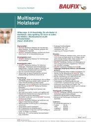 Produktname Multispray- Holzlasur - Baufix