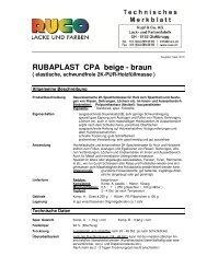 RUBAPLAST CPA beige - braun ( elastische, schwundfreie 2K-PUR ...