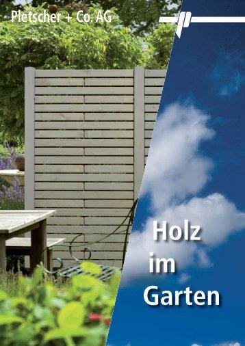 Holz im Garten» HiRes - Pletscher & Co. AG