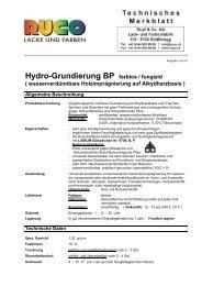 Hydro-Grundierung BP farblos / fungizid ( wasserverdünnbare ...