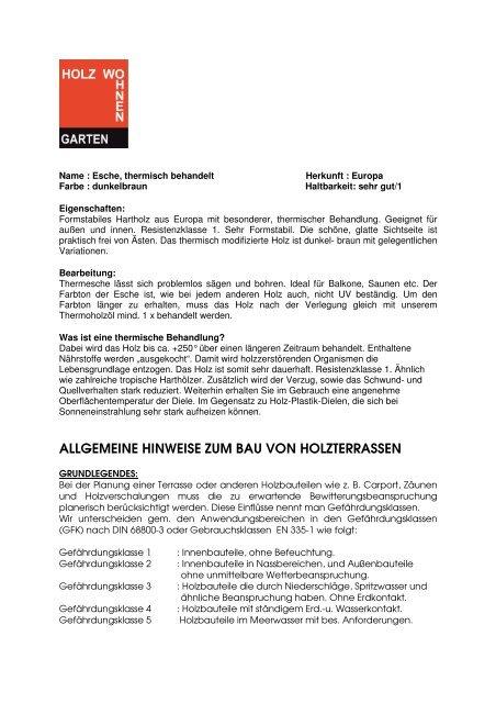 Attirant PDF Thermo Esche   Holz Wohnen Garten