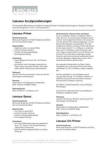 Deutsch - Lascaux Colours & Restauro