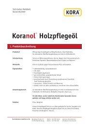 Koranol® Holzpflegeöl 1. Produktbeschreibung - holzschutz-store.de