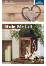 Holz | wood Metall | metal