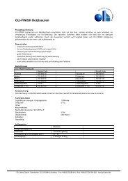 OLI-FINISH Holzlasuren - Oli Lacke GmbH