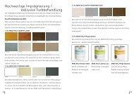 Hochwertige Imprägnierung / exklusive Farbbehandlung