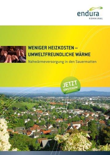 Planung und umSetzung: So funKtioniert'S - Endura kommunal GmbH