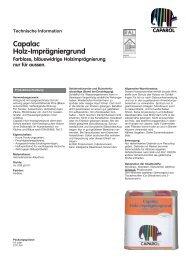 Capalac Holz-Imprägniergrund Farblose, bläuewidrige ...