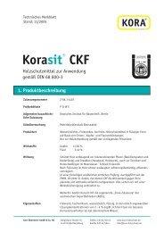 Korasit® CKF 1. Produktbeschreibung - KORA Holzschutz