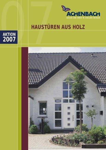 HAUSTÜREN AUS HOLZ - Achenbach Fenster und Türen GmbH