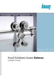 Das Knauf Schiebetür-System EXTeRUS - Leichtigkeit im Design