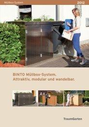 BINTO Müllbox-System. Attraktiv, modular und wandelbar.