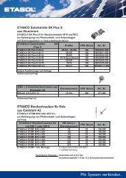 Solarkalotte SK Plus S für Stahlblech - Etanco