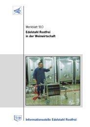 Merkblatt 910 Edelstahl Rostfrei in der Weinwirtschaft ...
