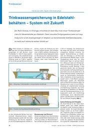 Trinkwasserspeicherung in Edelstahlbehältern – System mit Zukunft