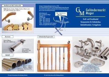 FL2 Geländermarkt Mager - Geländer Edelstahl Holz Handläufe ...