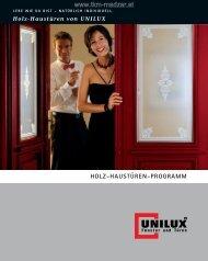 UNILUX Holzhaustüren Programmübersicht - TKM ... - TKM Fenster