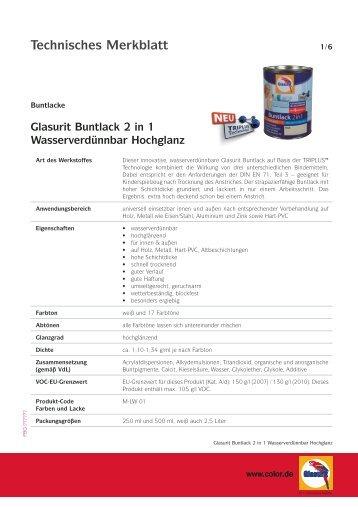 Technisches Merkblatt - Glasurit