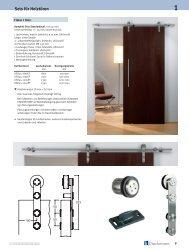 Beschläge für Schiebetüren Sets für Holztüren
